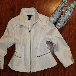 NEW White House Black Market white jacket US12